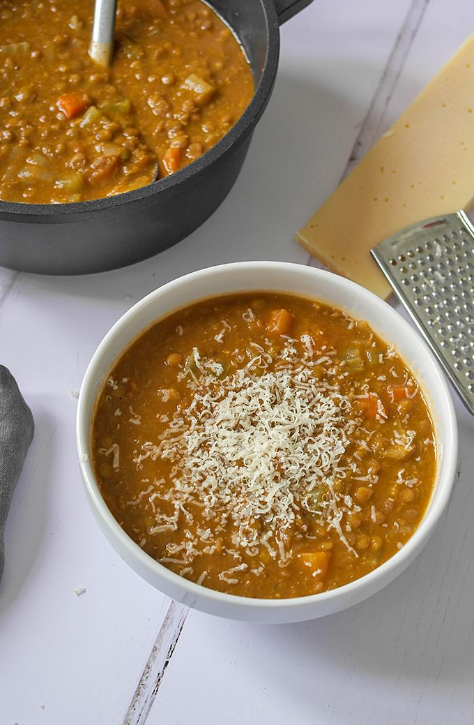 Super Easy Green Lentil Soup